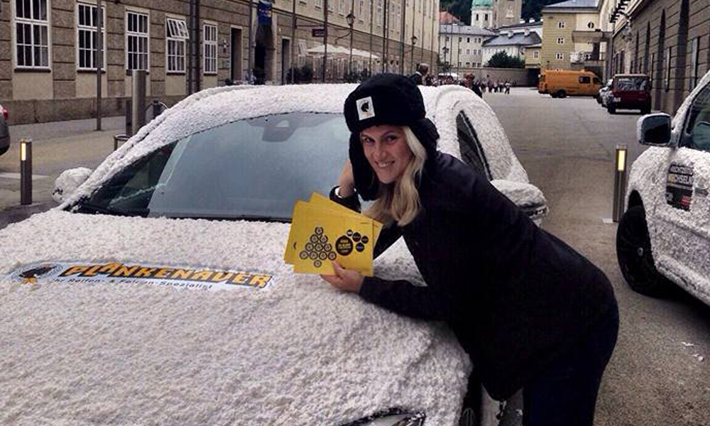 Plankenauer Schnee-Auto-Promotion Tour